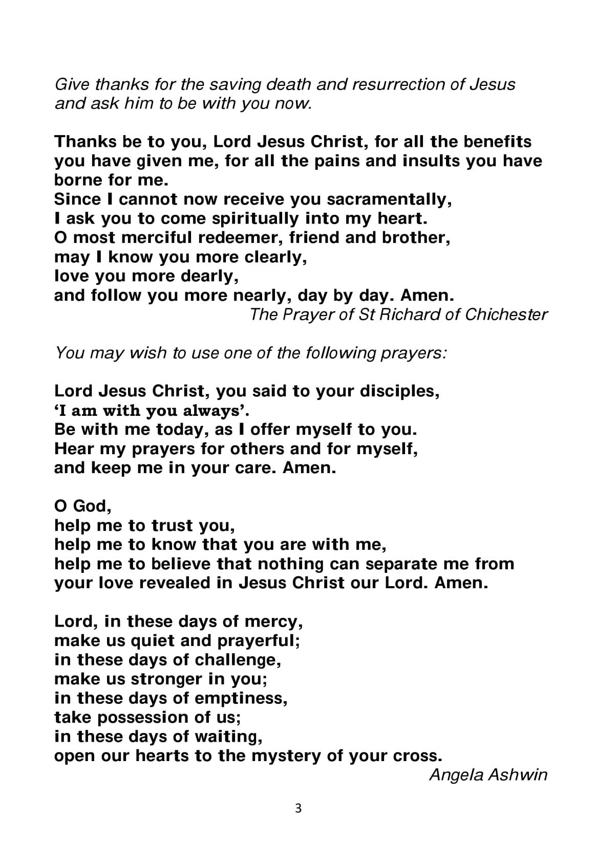 Spiritual Communion service A5-3