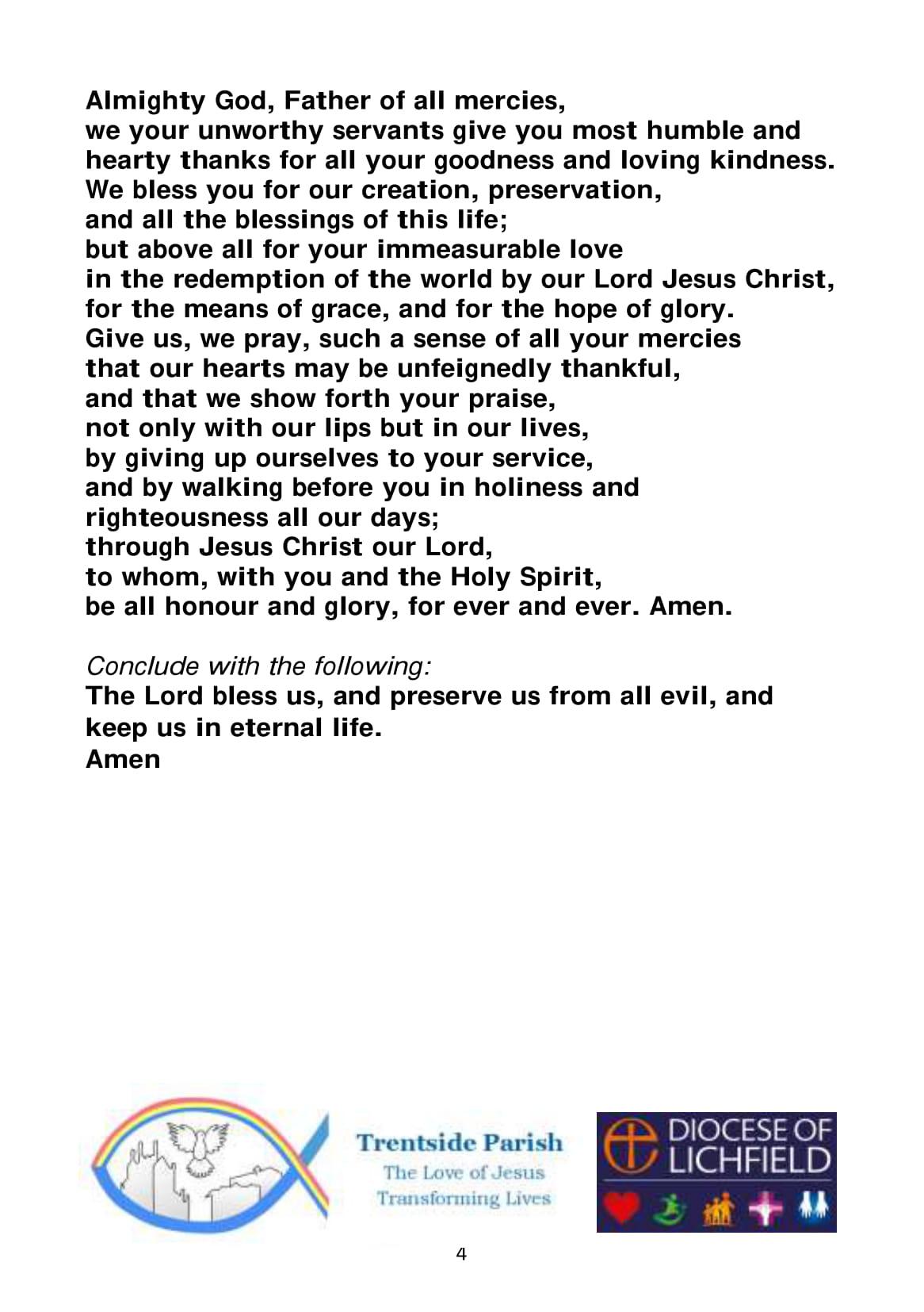 Spiritual Communion service A5-4