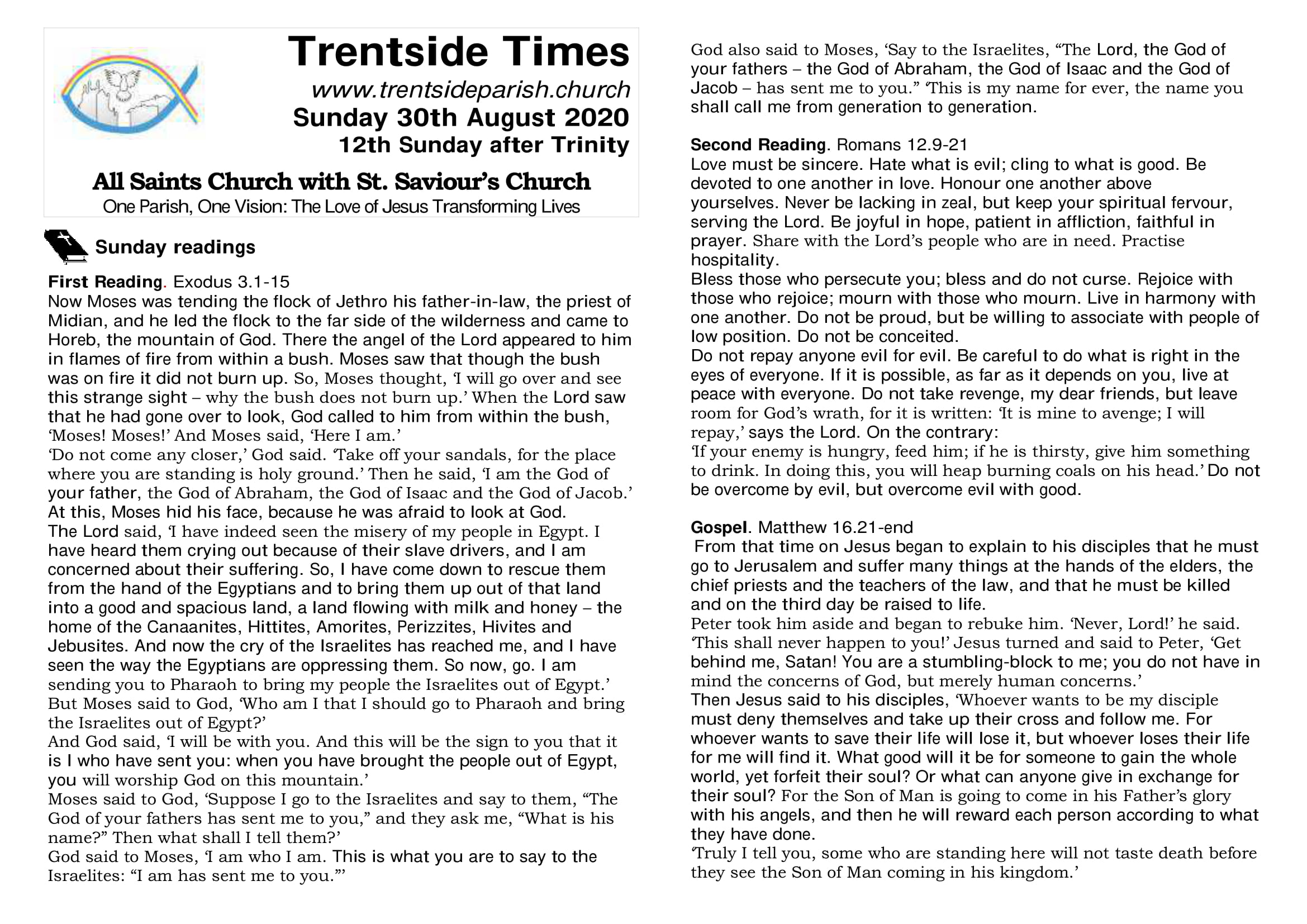 30th August. Trentside notices-page 1
