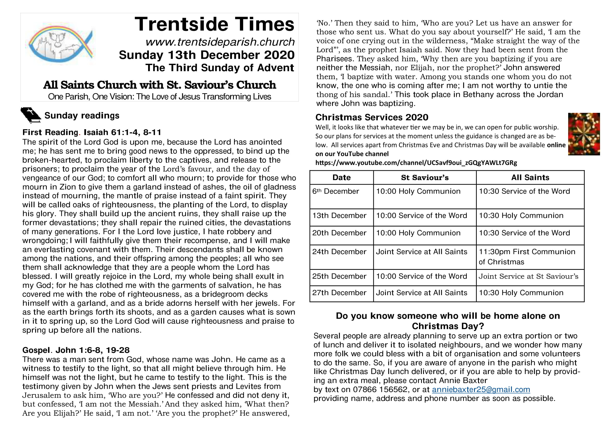 13th December Trentside Notices-page 1