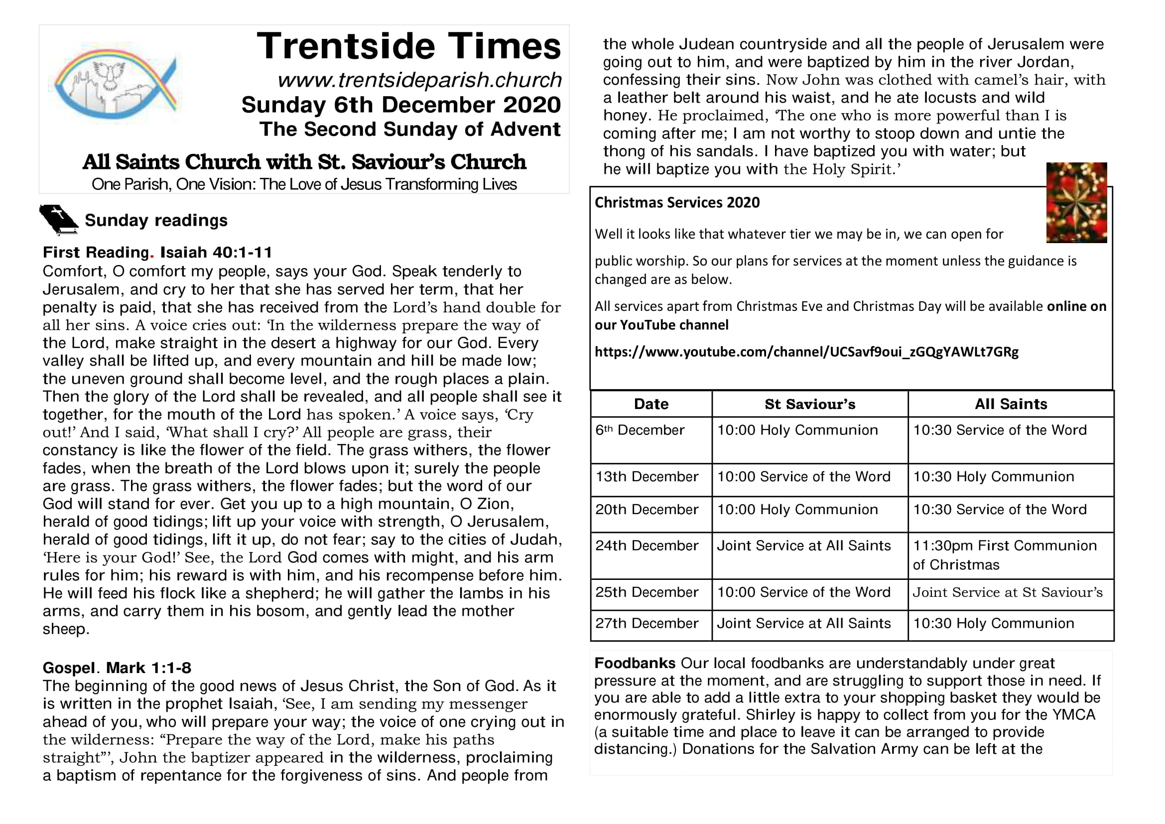 6th December Trentside Notices-page 1