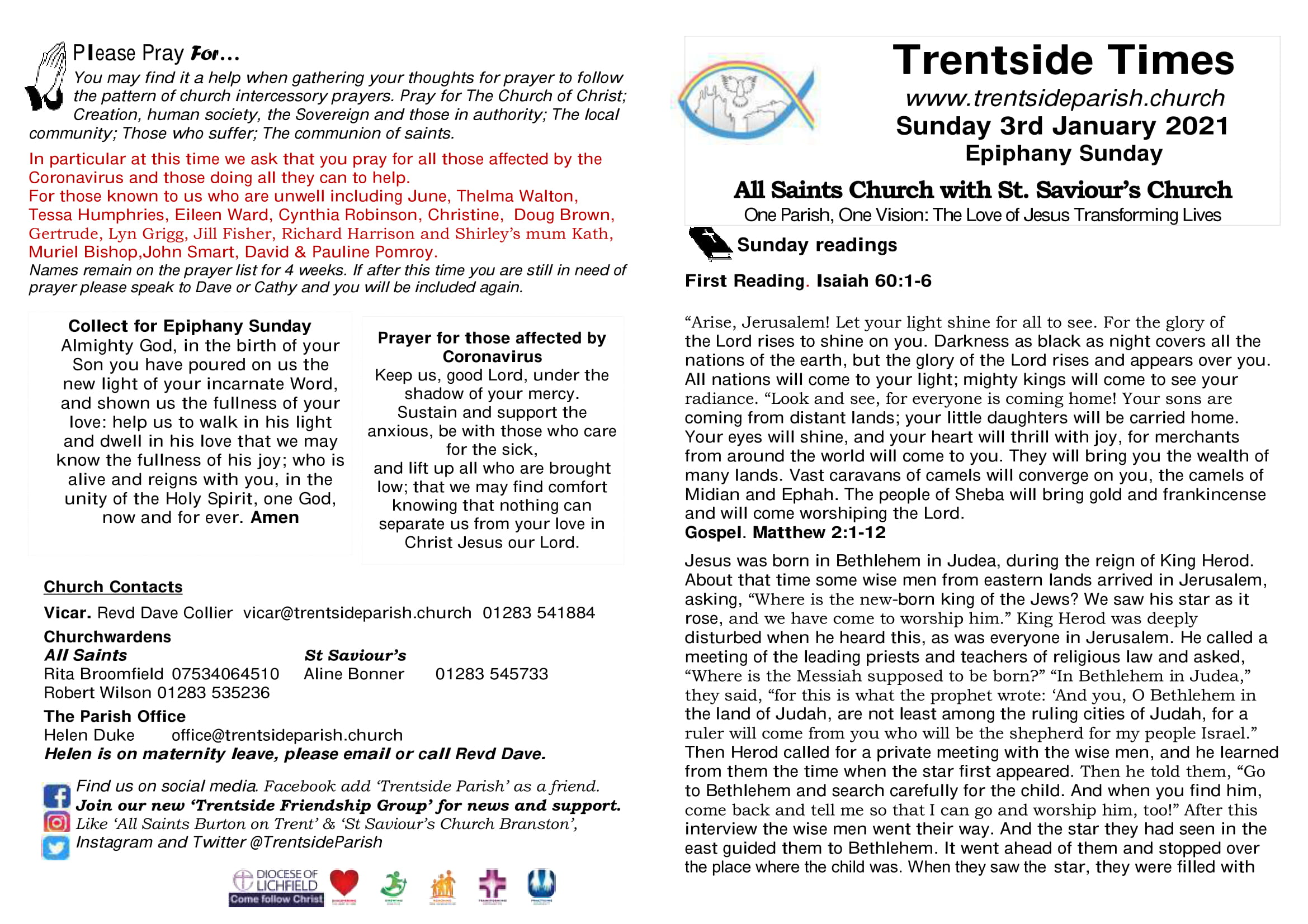 3rd January 2021 Trentside Notices-page1